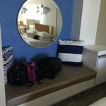 Bench seat in room