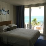View from queen oceanfront room in building 1