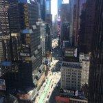 vu sur Times Square de la chambre!