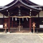 湯神社の正面