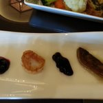 Vieiras e foie gras