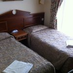 Beds in a double room