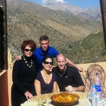 Couscous after trekking...with Tod.  Brilliant!  From www.tourguidemarrakech.com
