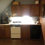 kitchen in Hawk's Nest Suite
