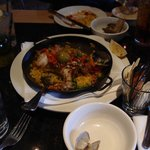 Our Paella, we had just started serving it.