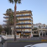 The hotel from the beach side