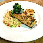 Herb marinated Salmon & mediterranean couscous
