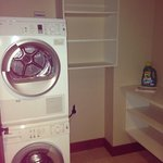 Laundry room with detergent awaiting our arrival!