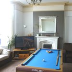The newly decorated lounge with new pool table