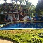 Vista geral da piscina