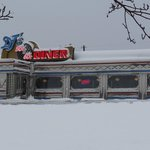 Snow covered diner