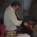 Craftsman making a glass horse!