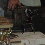 The glass horse he made...beautiful!
