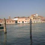 Arriving in Murano.