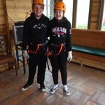 The girls before ziplining!