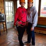 My daughter and her boyfriend before ziplining!