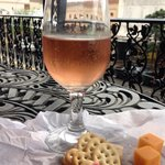Wine & cheese on the balcony