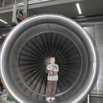 Some kind of jet engine that was fun for the kids to get a perspective of when inside.