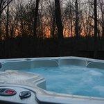 Hot tub at studio