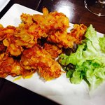 Pollo crujiente con salsa de mostaza