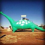Giant brontosaurus slide!