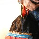 Guthi Bag in Velvet and Brocade