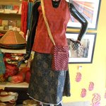 Cotton Skirt Top and Passport Bag