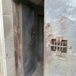 Locked entrance up to bell towers at Metropolitan Cathedral