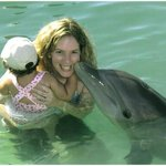Playing with the Dolphins at Unexso in Port Lucaya