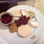 Gorgeous cheeseboard with the most amazing chutney!