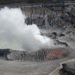 view into the active Poas Volcano