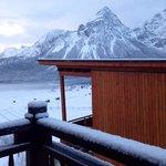 Neuer Schnee auf unserem Balkon