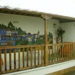 Inner courtyard balconies