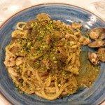 Spaghetti vgp. Vongole spaghetti e pistacchio. Meravigliosa.