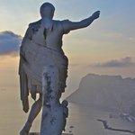 Caesar Augustus Statue Overlooking Anacapri