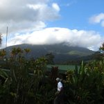 View of Arenal on our walk to the restaurant