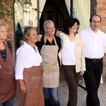 Me With The Wonderful Staff Outside of The Onsite Restaurant After Our Cooking Class!