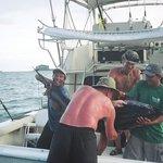 A 200+ pound Yellow fin Tuna caught off Hacienda Del Mar