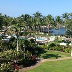View from hotel suite at Fairmont Orchid