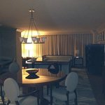 Dining and living area of Pres Suite