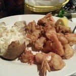 Fried shrimp and oyster platter