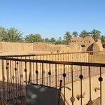 terrasse et vue sur l'oasis