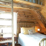 Main Lodge bedroom with mini-loft