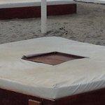 matelas du bar de la plus grande piscine d'Amerique du Sud