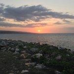 Sunset from Bizot Bar