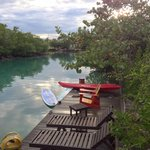 Our private dock on the lagoon
