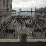 Another view from balcony -Doge's palace on left