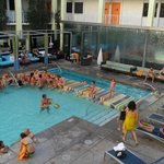 A view of the pool at The Clarendon Hotel