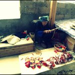 so old and still working,amazing old woman in Pingan village