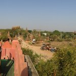 View of temples and horsecarts from roof